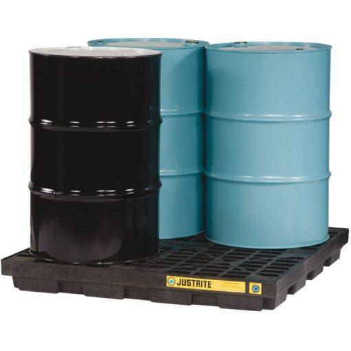 Plataforma de retención polietileno fabricación ecológica 4 bidones, 185 L 1
