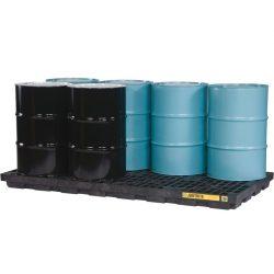 Plataforma de retención polietileno fabricación ecológica 8 bidones, 371 L
