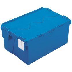 Cubeta apilable encajable con tapa integrada 48 L, 60 cm x 40 cm x 26,4 cm