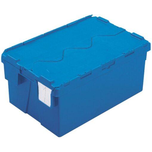 Cubeta apilable encajable con tapa integrada 48 L, 60 cm x 40 cm x 26,4 cm 1