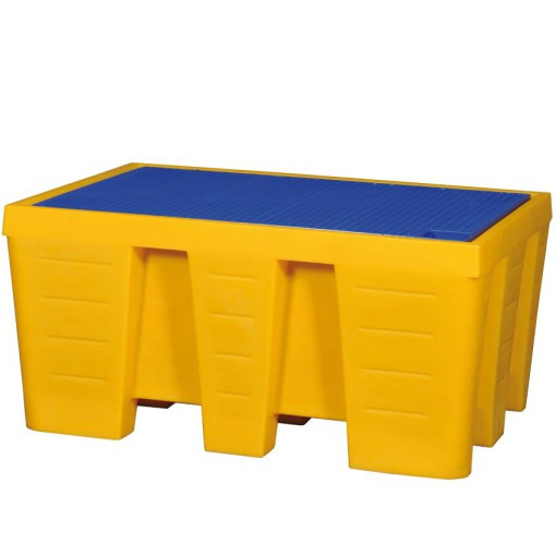 Cubeta de retención polietileno 2 bidones, 450 litros 132 cm x 92 cm x 57 cm 1