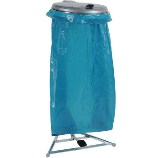 Soporte de bolsa sobre pie con pedal y tapa de plástico, 110 L 1