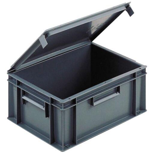 Cubeta apilable con tapa integrada, 15 L,  40 cm x 30 cm x 18,6 cm 1
