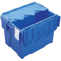 Cubeta apilable encajable con tapa integrada  25 L, 40 cm x 30 cm x 30,6 cm