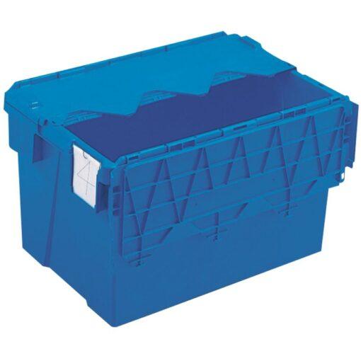 Cubeta apilable encajable con tapa integrada 65 L, 60 cm x 40 cm x 36,5 cm 1
