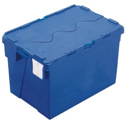 Cubeta apilable encajable con tapa integrada 70 L, 60 cm x 40 cm x 40 cm