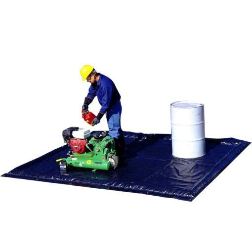 Piscina de retención flexible poliéster baja altura, 333 litros 300 cm x 355,5 cm x 5,1 cm 1