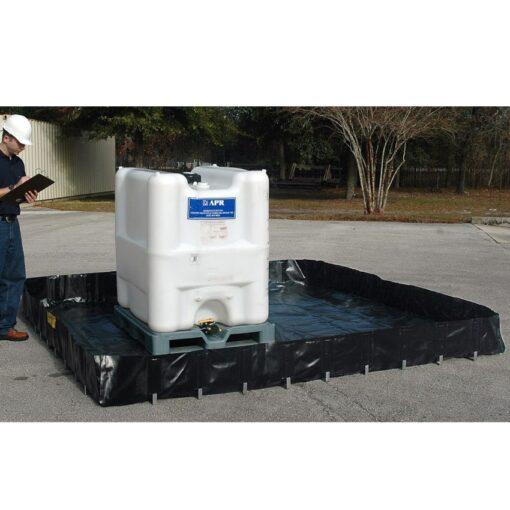 Piscina de retención flexible poliéster económica, 2180 litros 350 cm x 250 cm x 25 cm 1