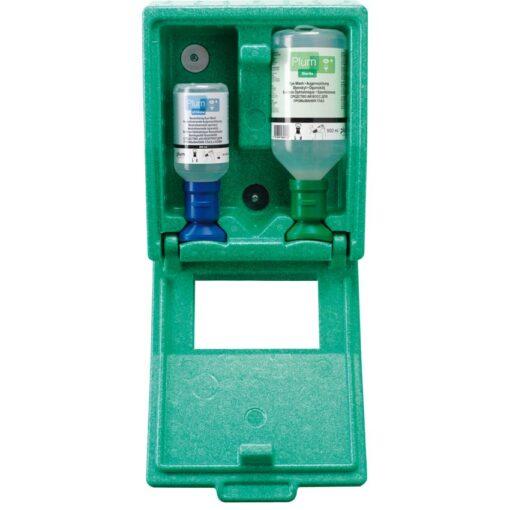 Estación mural autónoma pH Neutral para los ojos en caja, 2 frascos 1
