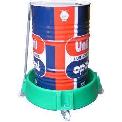 Portabidón polietileno móvil con timón, 40 litros
