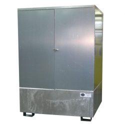 Contenedor exterior en acero galvanizado 1 IBC, 1000 L 150 cm x 138 cm x 194 cm