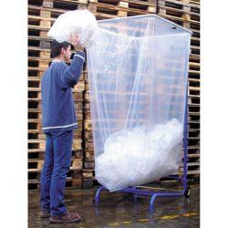 Soporte de bolsa de gran volumen 1000 a 2500L, móvil.