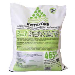 Absorbente en polvo mineral InstaZorb multiuso para todo tipo de producto y de viscosidad. Saco de 50L