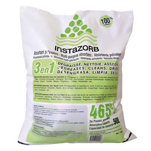 Saco de 50L Absorbente universal mineral InstaZorb multiuso para todo tipo de producto y de viscosidad