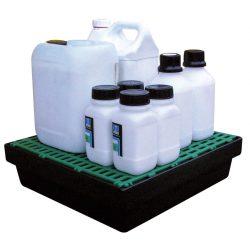 Cubeta de retención de polietileno para frascos, 10 litros 44,5 cm x 41,5 cm x 11,5 cm