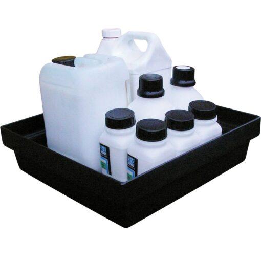 Cubeta de retención de polietileno para frascos, 10 litros 44,5 cm x 41,5 cm x 11,5 cm 1