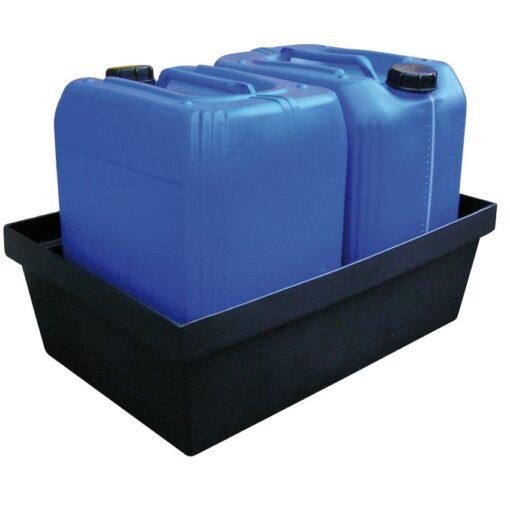 Cubeta de retención de polietileno para frascos, 40 litros 63,5 cm x 41,5 cm x 20,5 cm 1