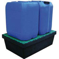 Cubeta de retención de polietileno para frascos, 40 litros 61,8 cm x 42 cm x 15,5 cm