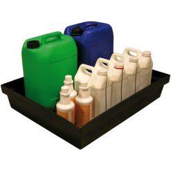 Cubeta de retención polietileno para frascos, 60 litros 81 cm x 64 cm x 15 cm