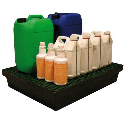 Cubeta de retención polietileno para frascos, 60 litros 81 cm x 64 cm x 15 cm 1