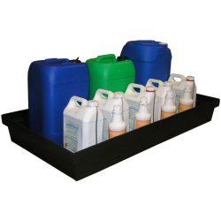 Cubeta de retención polietileno para frascos, 100 litros 120 cm x 64 cm x 15 cm