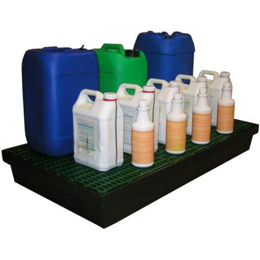 Cubeta de retención polietileno para frascos, 100 litros 120 cm x 64 cm x 15 cm 1
