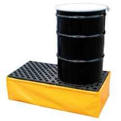 Cubeta de retención flexible de PVC para 2 bidones, 250 litros 121,9 cm x 61 cm x 35,6 cm