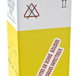 10 recipientes en cartón estancos para la recogida de desechos biológicos infecciosos 50 L
