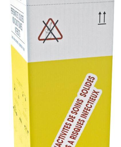 10 recipientes en cartón estancos para la recogida de desechos biológicos infecciosos 50 L 1