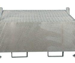 Cubeta de retención remontable para 1 cubitainer, 1000 litros 155 cm x 132 cm x 81 cm