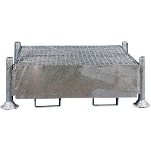 Cubeta de retención remontable para 4 bidones, 440 litros 155 cm x 132 cm x 46 cm 1