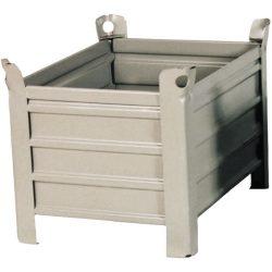 Caja-palet metálica sobre pies 83,5 cm x 63,5 cm x 60 cm