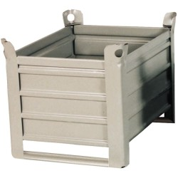 Caja-palet metálica sobre patines  83,5 cm x 63,5 cm x 60 cm