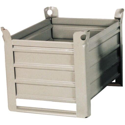 Caja-palet metálica sobre patines  83,5 cm x 63,5 cm x 60 cm 1
