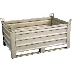 Caja-palet metálica sobre patines 123,5 cm x 83,5 cm x 60 cm