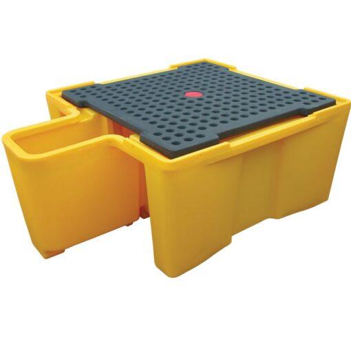 Cubeta de retención para 1 GRG/IBC con puesto de trasiego, 1100 litros 200 cm x 149 cm x 76,5 cm 1