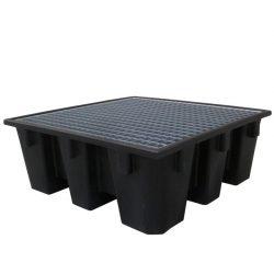 Cubeta de retención 4 bidones Prim's, 450 litros 128 cm x 128 cm x 48,5 cm