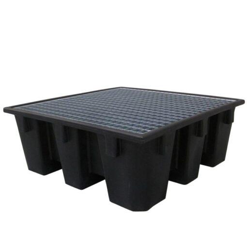Cubeta de retención 4 bidones Prim's, 450 litros 128 cm x 128 cm x 48,5 cm 1