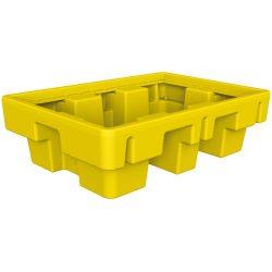 Cubeta de retención de polietileno 2 bidones, 225 litros 131 cm x 91 cm x 38 cm