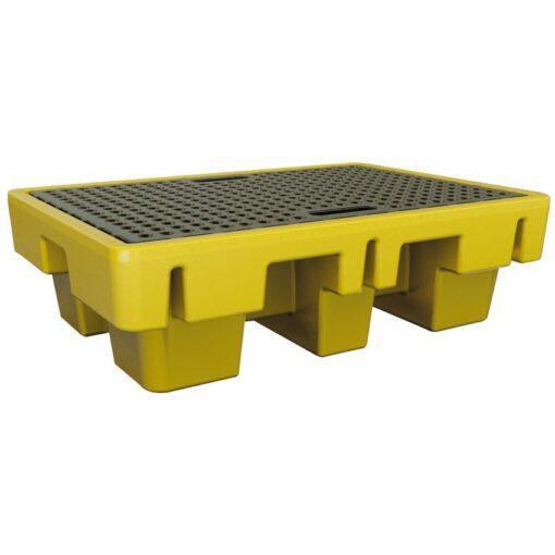 Cubeta de retención de polietileno 2 bidones, 225 litros 131 cm x 91 cm x 38 cm 1
