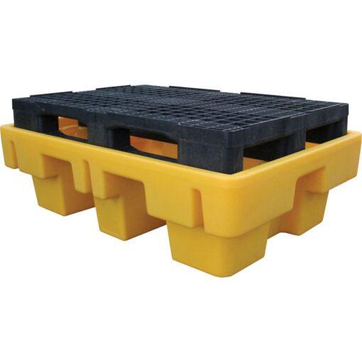 Cubeta de retención de polietileno 2 bidones, 225 litros 131 cm x 91 cm x 52 cm 1