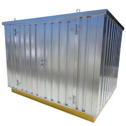 Bungalow de almacenamiento de acero en kit 2151 litros 216 cm x 608 cm x 224,7 cm