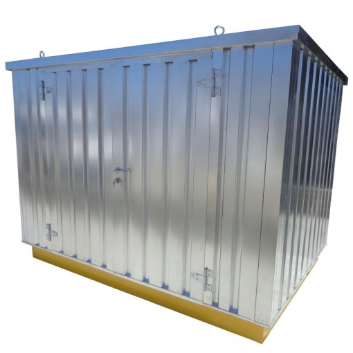 Bungalow de almacenamiento de acero en kit 2151 litros 216 cm x 608 cm x 224,7 cm 1