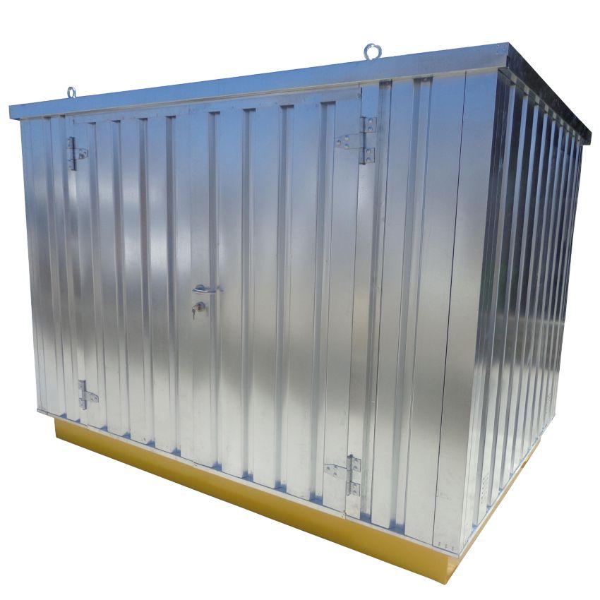 Caseta de almacenamiento de acero 6m hal co for Caseta acero galvanizado