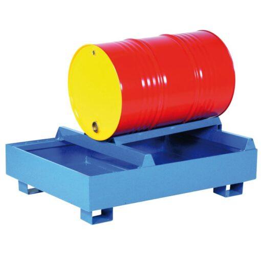 Puesto de trasiego 1 bidón con cubeta de retención, 260 L 95 cm x 125 cm x 58 cm 1