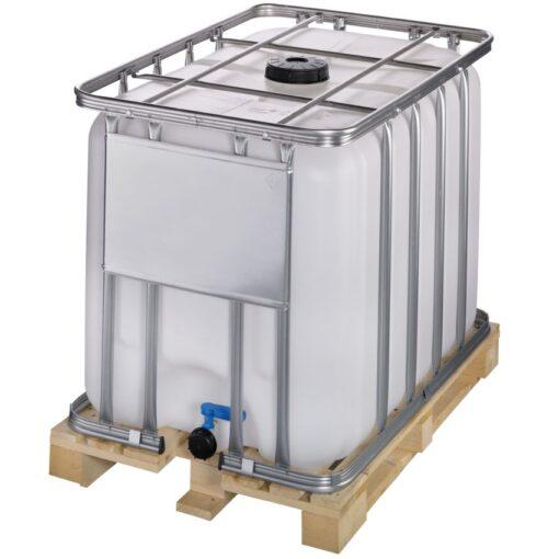 Cuba de almacenamiento 600 litros con palet de madera120 cm x 80 cm x 101,3 cm 1