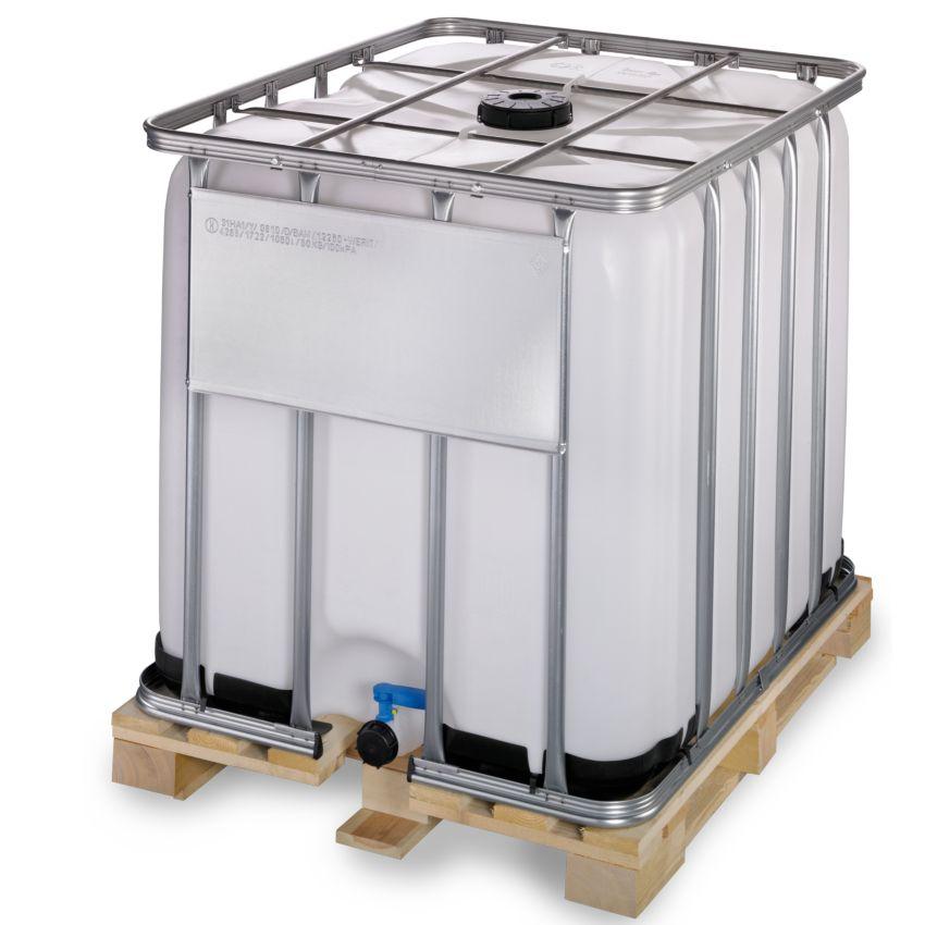 Contenedor ibc homologado adr 1000 litros con palet de for Bidones de 1000 litros