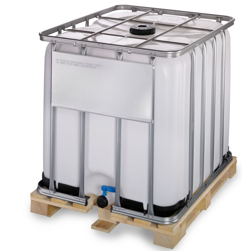 Contenedor ibc homologado adr 1000 litros con palet de Estanque ibc 1000 litros