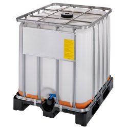 Cuba de almacenamiento homologada ATEX 1000 litros con palet de PE 120 cm x 100 cm x 116,4 cm