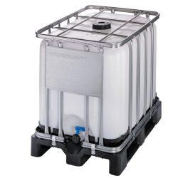 Cuba de almacenamiento homologada 600 litros con palet de PE 120 cm x 80 cm x 101,3 cm